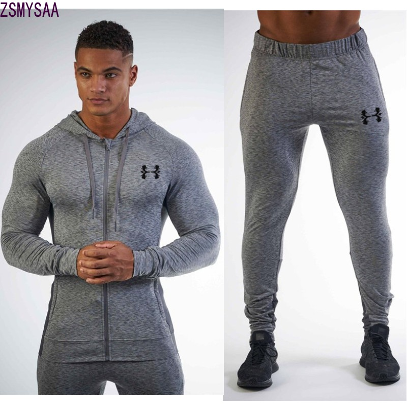 2017Males's Units 2 Items Sweatsuits Mens Tracksuit Pullover Hoodie And Pants Strips Hooded Sweatshirt Sportswear Mens Clothes