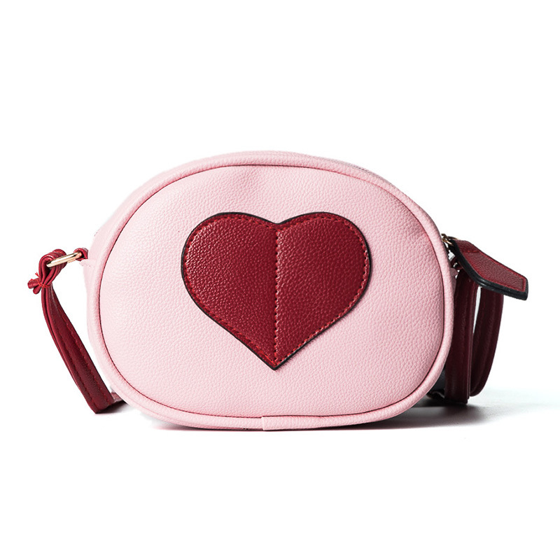 In the spring of 2018 new fashion handbags love small package stitching cute fashion shoulder bag messenger bag ba