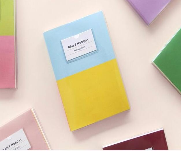 Brief fashion joint color design creative weekly planner 12.7*18cm undated agenda 176 pages 2017 stationery gift brief adolescent therapy homework planner