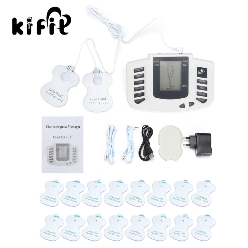 KIFIT Electrical Muscle Relax Stimulator Massager Pulse Digital Tens Acupuncture Full Body Therapy Machine Health Care Tool electric massager electrical stimulator full body relax muscle therapy massager dual output massage pulse tens acupuncture