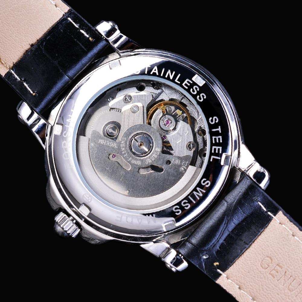 Forsining Kişi Saatı Skeleti Moda Dizaynı Təsadüfi Top Marka - Kişi saatları - Fotoqrafiya 5