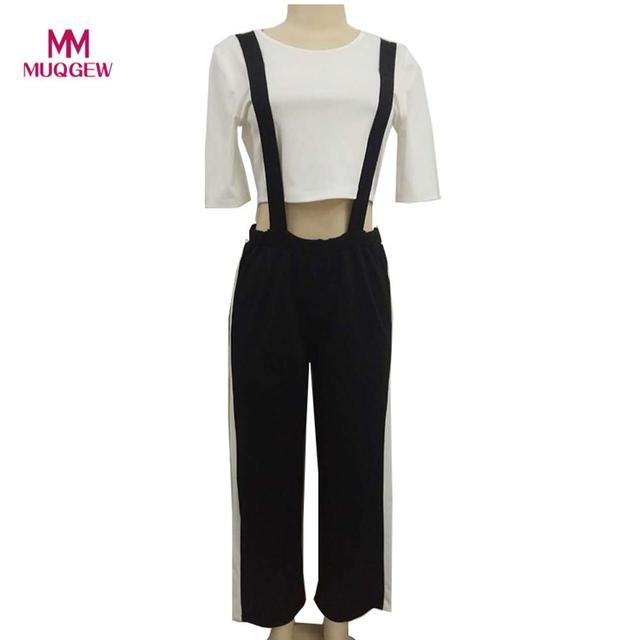 14c4d232bf Women s Suspenders Trousers Wide Leg Side Split Pants Jumpsuit Playsuit  2018 NEW ARRIVAL FASHION WOMENS JUMPSUIT combinaisons