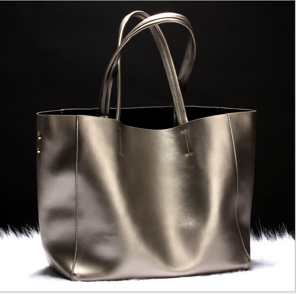Fashion newest design genuine leather women s popular handbag vintage large capacity shoulder bag simple female