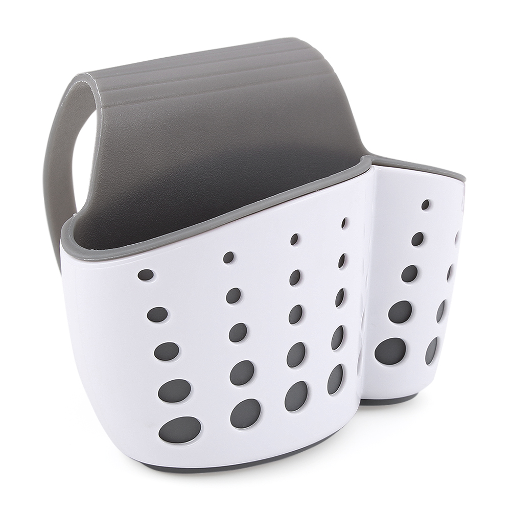 Draining Kitchen Saddle Sink Caddy Sponge Holder for Scrubbers ...