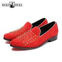 Весна большой Размеры us5 10.5 Для мужчин туфли под красное свадебное платье стилист обувь мужской Пояса из натуральной кожи заклепки клуб веч