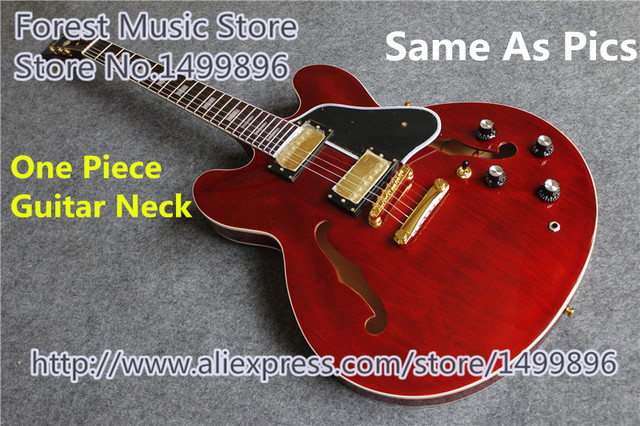 Cheap Hot Sell ES 335 Electric Jazz Guitar One Piece Guitar Neck As Picture & Left Handed Available
