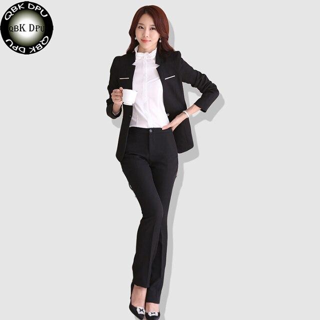 d2ac4a0f2522 QBK DPU marchi di abbigliamento di affari sottile ufficio OL tailleur femme  bureau abiti 2017 nuovo