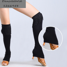 Latin dance professional dance leg warmers hosiery fringe socks for women