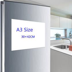 A3 магнитный календарь для холодильник-сухая белая доска для холодильник-ежемесячно белая доска-идеальный планировщик Кухня офисные