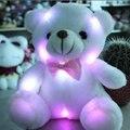 20 cm Lindo Caliente al por mayor Nueva Gran Luminoso de Peluche Muñeca Del Oso Del Abrazo de Oso Colorido Destello de Luz, Led de juguete de Felpa regalo de cumpleaños