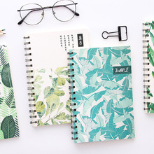 1piece Illustration A5 Coil Notebook Student Diary Notebook line inner pages school  Office Supplies random color random paris cover notebook 30sheets