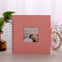 New Pink DIY Photo Album Scrapbook Valentines Day Gifts Wedding Photo Album Craft Paper Anniversary Travel Memory Scrapbooking