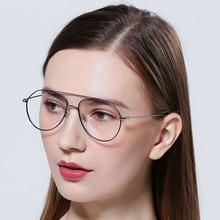 FENCHI glasses frame designer myopia vintage aviator optical metal transparent unisex