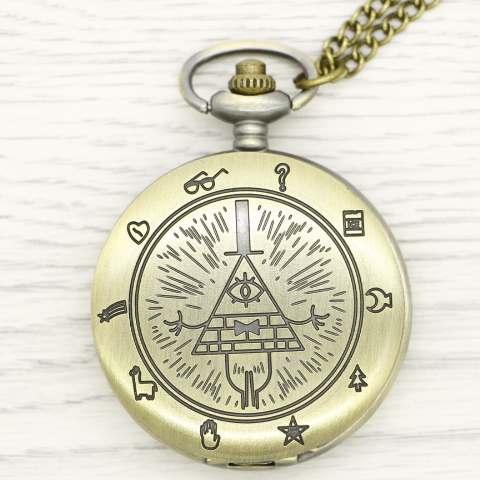 Retro Vintage Bronze Quartz Pocket Watch Analog Pendant Necklace Men Women Watches Chain Gift