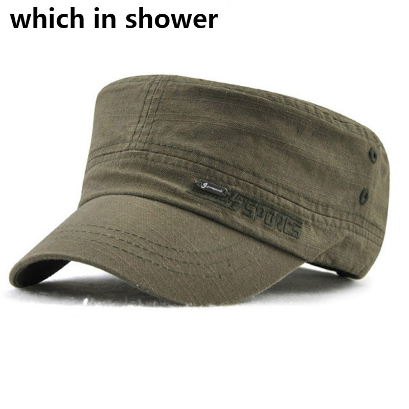 Solid Cotton Men/'s Army Cap Military Flat Cap Sun Hat Driver Cabbie Trucker Hat