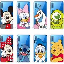 Cute cartoon Winnie pooh Couples loving Mickey Minnie Case For Samsung A5 A7 2018 A6 A8 Plus J7 S5 S6 S7 edge S8 S9 Plus Note 9