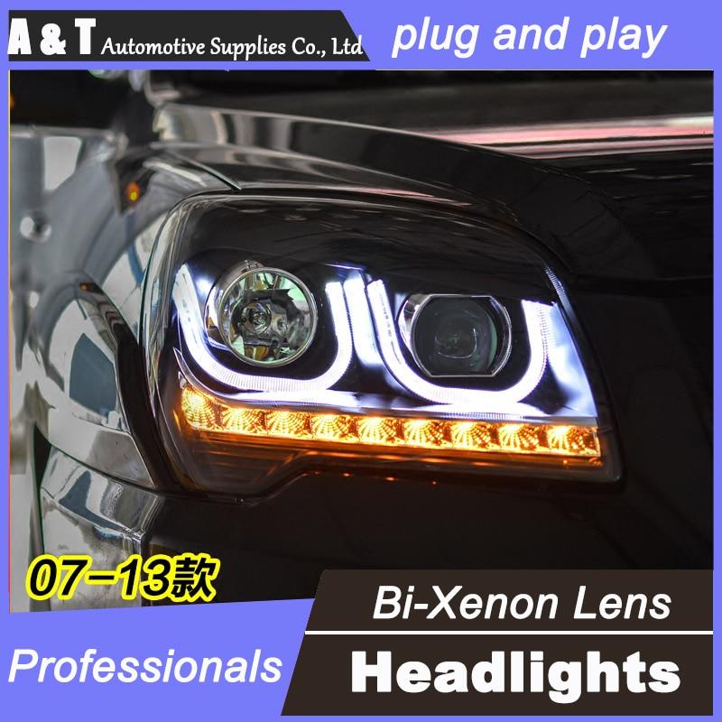 стайлинга автомобилей для Киа Спортейдж фары Ассамблеи ангел глаз 2007-2013 для объектива Спортейдж ксенон H7 с HID комплект 2шт.