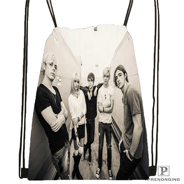 Custom Ross_Lynch Drawstring Backpack Bag Cute Daypack Kids Satchel (Black Back) 31x40cm#180611-01-34