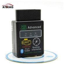 DHL 50pcs מיני ELM327 OBD2 Bluetooth V2.1 ממשק עובד על אנדרואיד מומנט רכב אבחון כלי רכב קוד קורא סורק