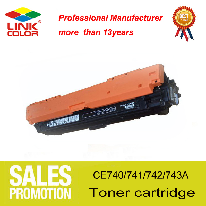 for hp307 307a CE740A CE741A CE742A CE743A toner cartridge compatible for the printer HP Color Laserjet 5225