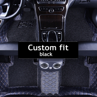 free shipping!! LuxuryDouble layer fabric car floor mats for HUMMER H2 H3 HUMMER H2 H3 foot mats carpet auto Stickers
