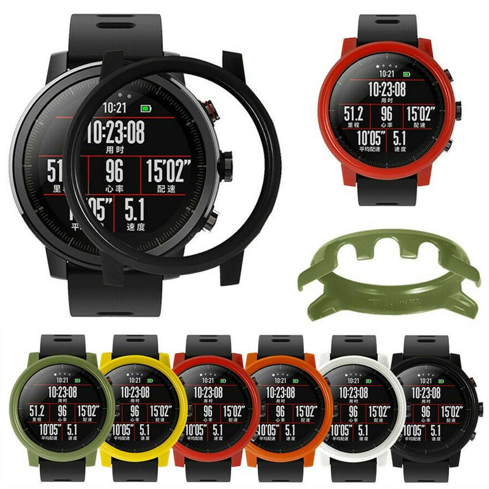 Hard Protection Case Cover  Bumper Frame For Xiaomi Huami Amazfit 2 2S Stratos Smart Watch Protection Silicone Cases Protector