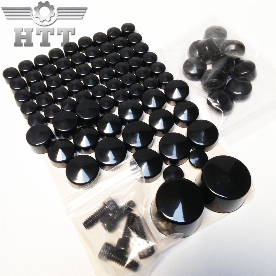 Free shipping Motorcycle Parts Bolts Toppers Caps For Harley Davidson 2007 2008 2009 2010 2011 2012 Softail Twin Cam Black aftermarket free shipping motorcycle parts eliminator tidy tail for 2006 2007 2008 fz6 fazer 2007 2008b lack