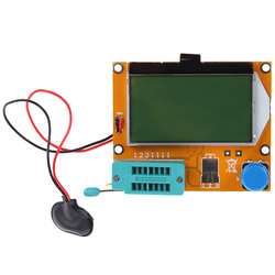 Medidor da capacitância esr do triode do diodo da luz de fundo do medidor LCR-T4 12864 9 v do verificador do transistor de digitas do lcd para mosfet/jfet/pnp/npn l/c/r