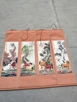Hand painted Chinese paintings,Eight horses Embroidery of the Qing Dynasty in China, free shipping
