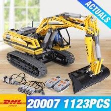 DHL Лепин 20007 метод моторизованный экскаватор 8043 Строительные блоки Кирпич DIY 20008 VOLVO L350F колесный погрузчик 42030 детские игрушки