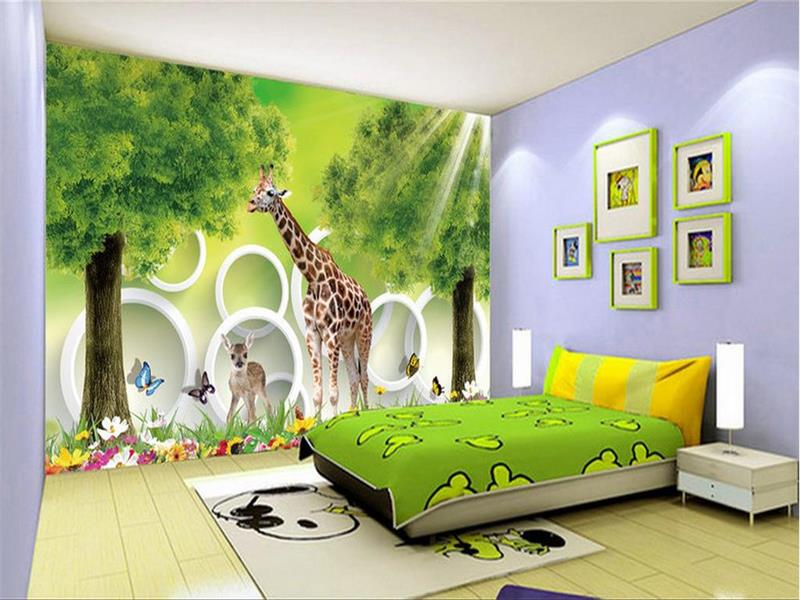 custom 3d photo wallpaper kids room mural giraffe tree sunshine 3d photo painting TV background non-woven wallpaper for wall 3d 3d wallpaper custom mural non woven 3d room wallpaper black and white circle line 3 d painting photo 3d wall murals wallpaper