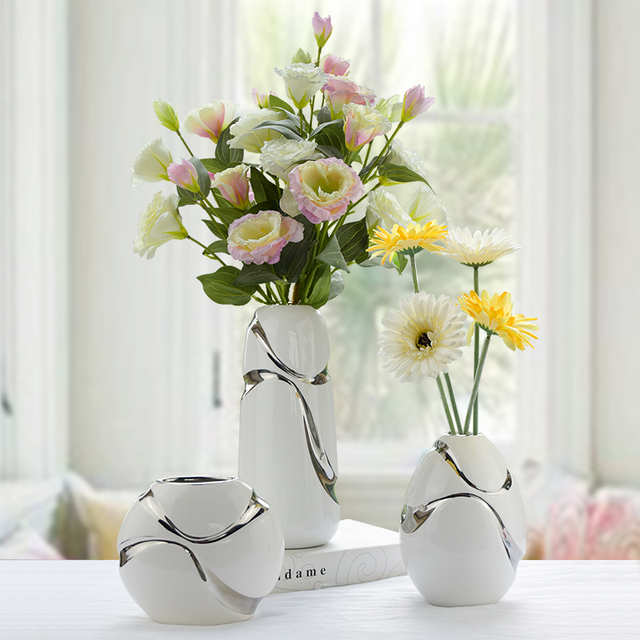 living room flower vases designs for rooms the decoration vase ceramic three piece modern minimalist style home furnishing
