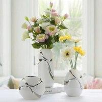 The living room decoration flower vase ceramic three piece modern minimalist style vase Home Furnishing Decoration