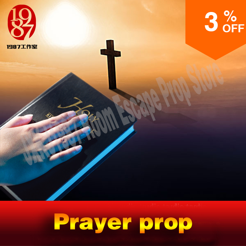 Prayer prop Adventurers room game prayer prop prayer to unlock from JXKJ1987 for room escape props