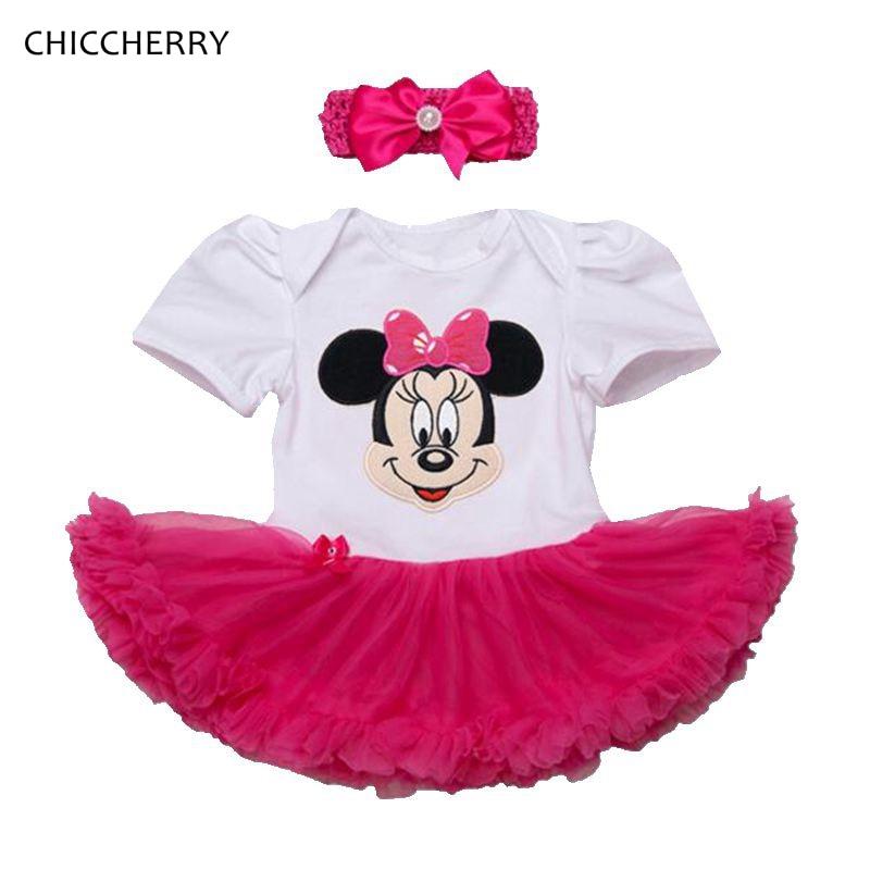 2PCS Bébé Filles Robe Tutu bandeau Tenues Newborn Anniversaire Enfants Vêtements Set