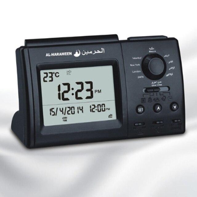 Muslim Desk Azan Table Alarm Clock Free Shipping Electronic Desk Clock Azan Clock