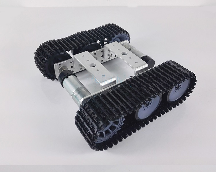 1PCS Smart RC Climbing Tank Car Truck Robot Metal Tank Chassis Platform Metal Tracked Caterpillar Tank Chassis for DIY Models diy tracked robot