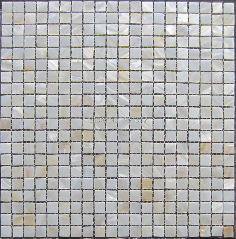 15*15 Weißen Mosaik Fliesen Dusche Perlmutt Fliesen Küche Backsplash  Natürliche Weiße Muschel Mosaik