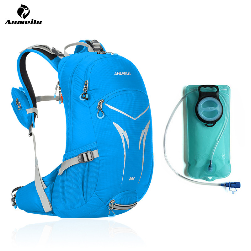 Anmeilu 20L Waterproof Nylon Outdoor Sport Hydration Backpack 2L Water Bag Bladder Camping Climing Cycling Backpack Storage Pack все цены