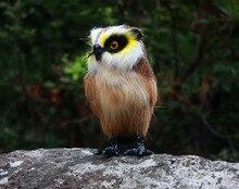 18x16cm night owl hard model,polyethylene&furs handicraft Figurines&Miniatures decoration toy gift a2856