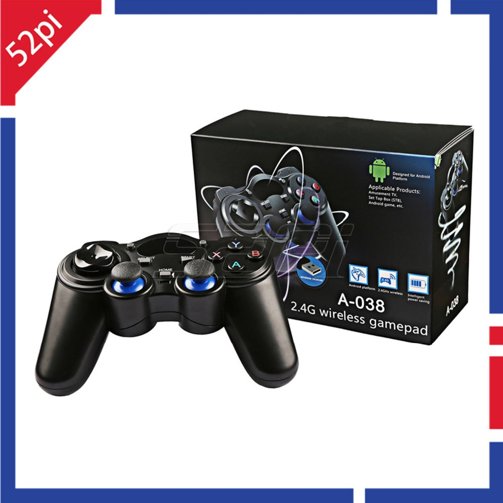 52Pi 2.4G Wireless Gamepad Game Controller Joystick Joypad for PC, Raspberry Pi, RetroPie, Android Smart TV Box, Tablet PC, PS3