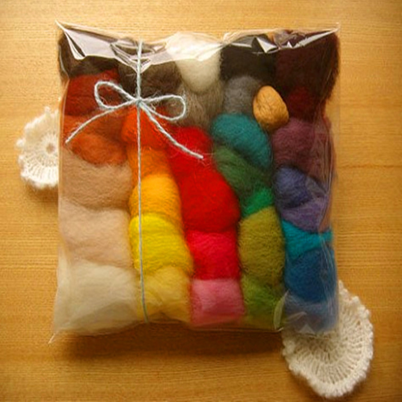 DIY Package Needle Felting Starter Kits Needle Craft Wool Wool Fibre Roving Needle Felting DIY Craft Kit DIY Hand Spinning Fiber