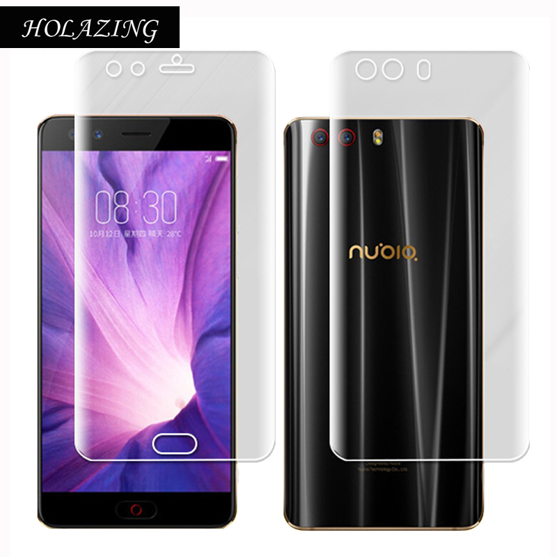 HOLAZING Soft Clear Transparent Silicone TPU Screen Protector for ZTE Nubia Z17 MiniS Mini S Anti Scratch Finger Protective Film
