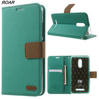 For Xiaomi Redmi Note 3 Case Original ROAR KOREA Twill PU Leather Stand Cover Case For
