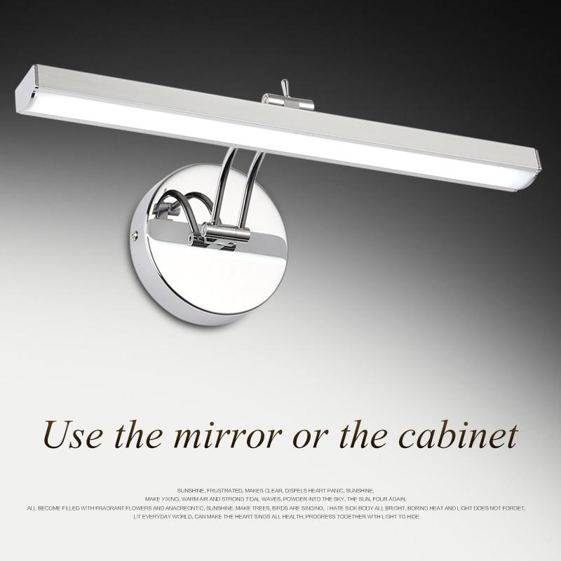 ФОТО SOLFART lighting 5535  9w iron paint acrylic bathroom washing room makeup room mirror cabinet Mirror front lamp