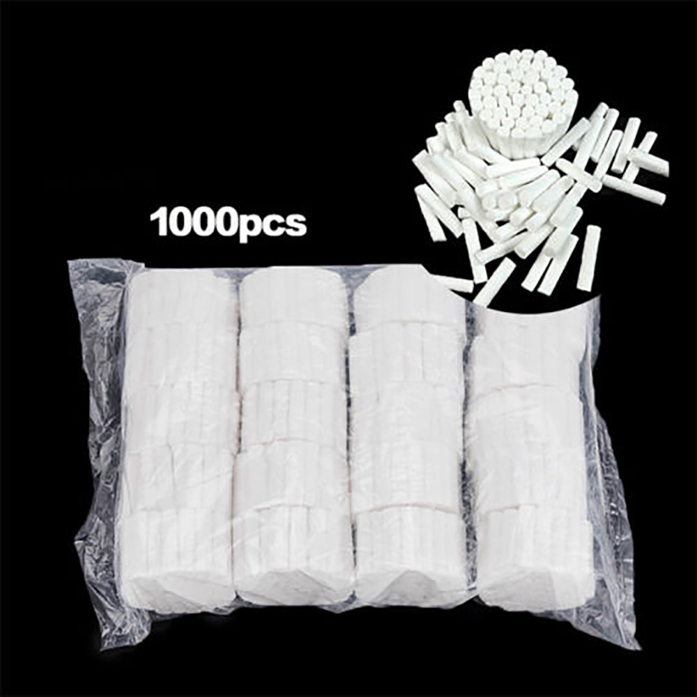 1000 Pcs Disposable Dental Medical Surgical Cotton Rolls Tooth Gem High-purity Cotton Roll Dentist Supplies Teeth Whitening
