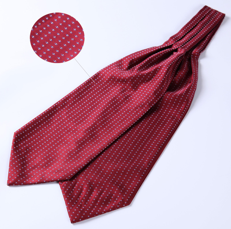 Image 3 - Polka Dot 100%Silk Ascot Pocket Square Cravat, Casual Jacquard Dress Scarves Ties Woven Party Ascot Handkerchief Set #A5-in Men's Ties & Handkerchiefs from Apparel Accessories on AliExpress