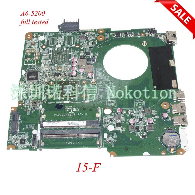 NOKOTION DA0U93MB6D2 790630-601 Laptop Motherboard For HP 15-F  A6-5200 2Ghz CPU Main board full testNOKOTION DA0U93MB6D2 790630-601 Laptop Motherboard For HP 15-F  A6-5200 2Ghz CPU Main board full test