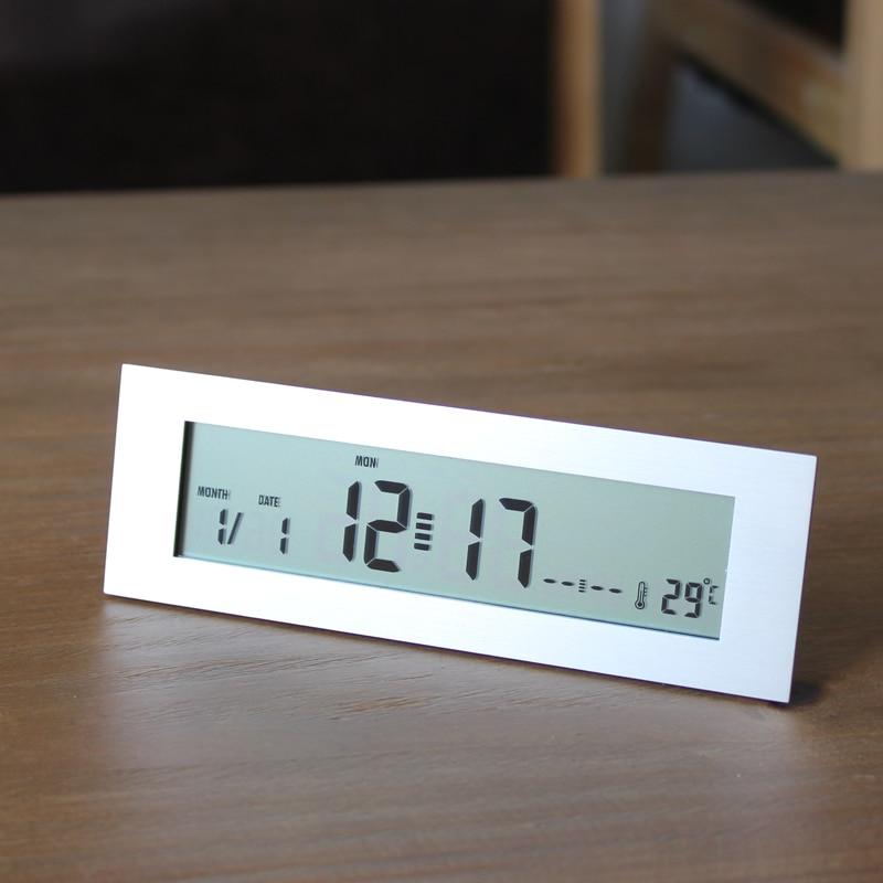 Best Selling Original Silver Led Desktop Alarm Clock
