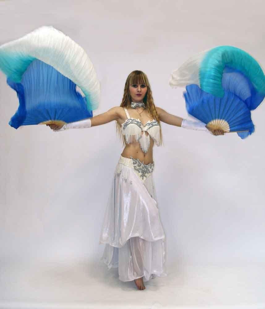 Настоящий Шелковый веер вуаль для танца живота китайская шелковая вуаль танец живота шелковая вуаль вентиляторы 180 см